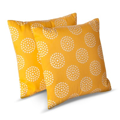 Room Essentials™ 2-Pk Circle Dots Toss Pillows - Yellow