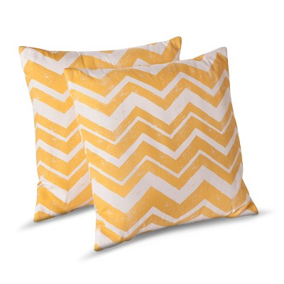 Room Essentials™ 2 Pk Chevron Toss Pillows - Yellow