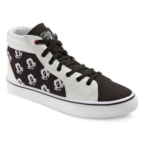 Disney Mickey Mouse Men's High Top Sneakers - Black & White