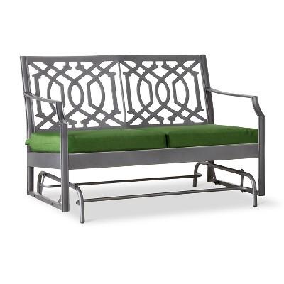Harper Metal Motion Patio Garden Bench - Green - Threshold™