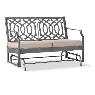Harper Metal Motion Patio Garden Bench - Tan - Threshold™