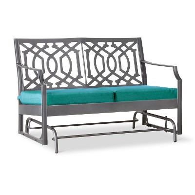 Harper Metal Motion Patio Garden Bench - Turquoise  - Threshold™