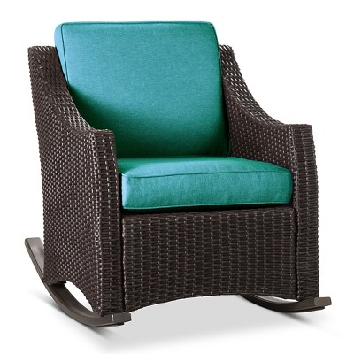 Belvedere Wicker Patio Porch Rocker - Turquoise  - Threshold™