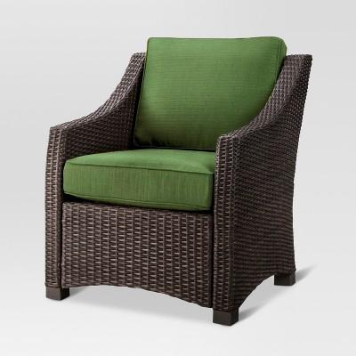 Belvedere Wicker Club Chair - Green - Threshold™