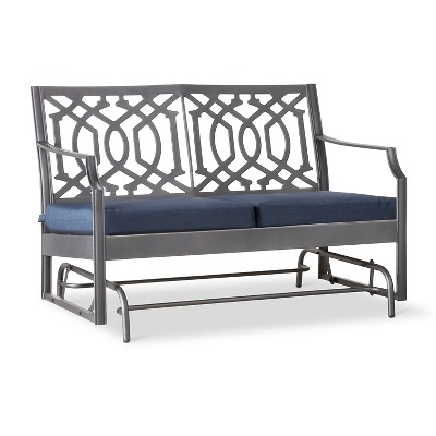 Harper Metal Motion Patio Garden Bench - Navy - Threshold™