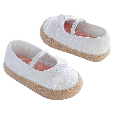 Newborn Girls' Mary Jane Shoes - White 0-3 M