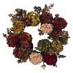 Nearly Natural Artificial Autumn Hydrangea Peony Wreath - Multicolor