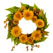 Nearly Natural Artificial Sunflower Wreath - Yellow/Green