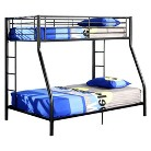 Walker Edison Metal Bunk Bed - Black (Twin/Full)
