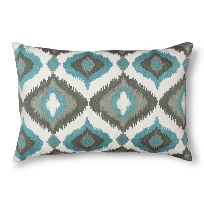 Ogee Throw Pillow Aqua - Threshold™