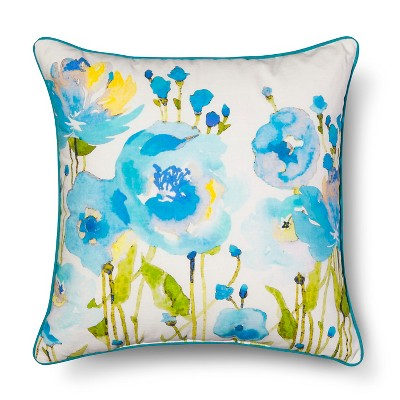 Threshold™ Cool Floral Decorative Pillow
