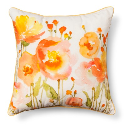 Warm Floral Throw Pillow - Threshold™
