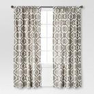 Threshold™ Linen-Look Fretwork Curtain Panel