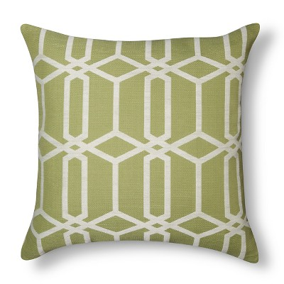Oversize Lattice Pillow - Green – Threshold™