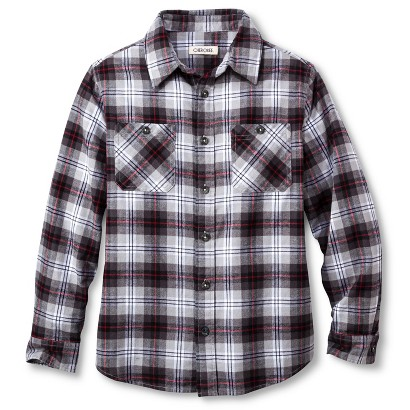 Boys' Plaid Button Down Shirt