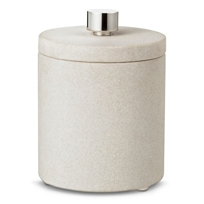 Threshold™ Sandstone Bath Canister- Off White