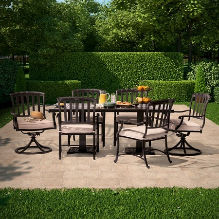 Premium Kentfield Metal Patio Dining Furniture Collection