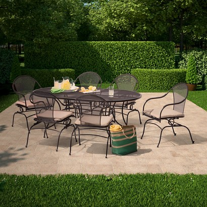 Hamlake Wrought Iron Patio Dining Furniture Coll Tar