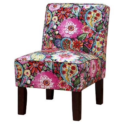 Burke Accent Print Slipper Chair - Sweet Summer Licorice