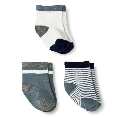 Just One You™ Made By Carter's® Newborn Boys' 3-Pack Ankle Sock - Blue 0-6 M