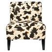 Safavieh Ashby Slipper Chair - White/Black