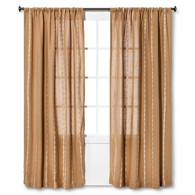 Burlap Stripe Curtain Panel Natural (54 x84 ) - Nate Berkus™