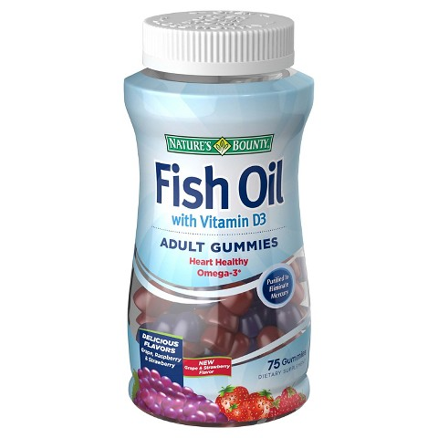 Nature 39 s bounty fish oil with d3 gummies 75 count target for Nature bounty fish oil