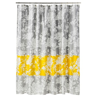 threshold bright drawn floral shower curtain product details page