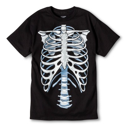 Image of Halloween Costume Glow Skeleton Men's T-Shirt