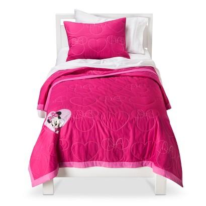 Minnie Mouse Quilt Set - Pink