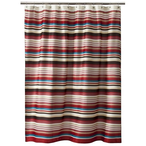 How To Pick Curtains Red Traditional Shower Curtain