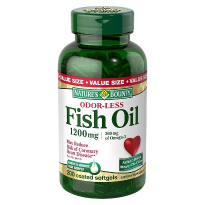 Nature 39 s bounty odorless fish oil 1200 mg softge target for Odorless fish oil