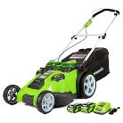 "Greenworks G-Max Cordless 40 Volt 20"" Twin Force Dual Blade Lawn Mower"