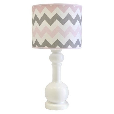 Chevron Baby in Pink/Gray Lamp