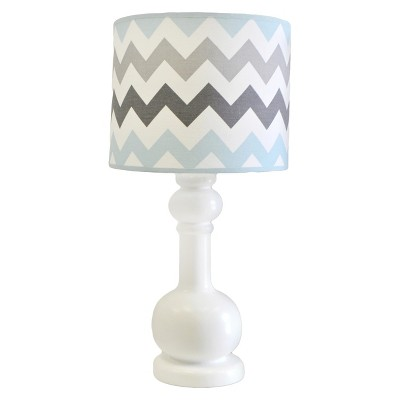 My Baby Sam Chevron Baby Lamp Aqua/Gray