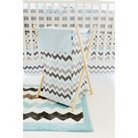 My Baby Sam Chevron Baby Hamper Aqua/Gray