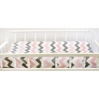 My Baby Sam Chevron Baby Changing Pad Cover Pink/Gray