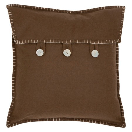 Safavieh 2 Pack Button Closure Throw Pillow - Brown : Target