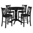 Dorel 5 Piece Counter Height Pub Table - Black