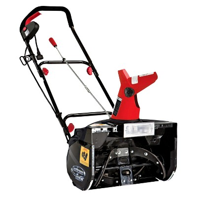 Snow Joe 18 Inch 13.5 Amp Electric Snow Thrower with Light-Red
