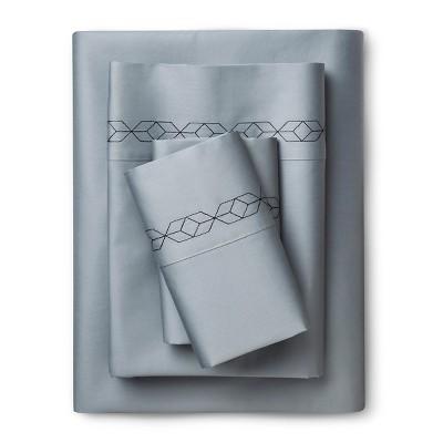 Nate Berkus™ Embroidered Geo Sheet Set - Queen