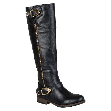 Women's Journee Collection Round Toe Buckle Detail Boots