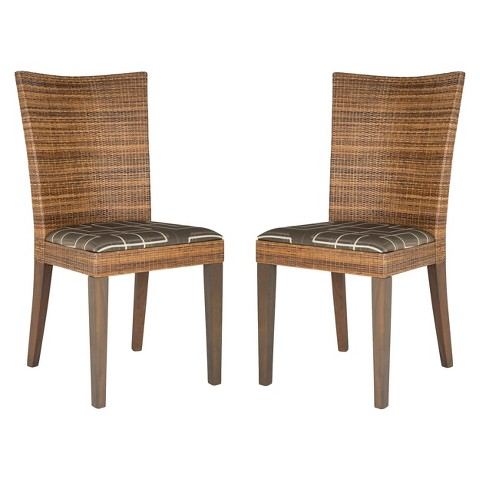 Safavieh Corbin Side Chair Brown Set of 2 Tar
