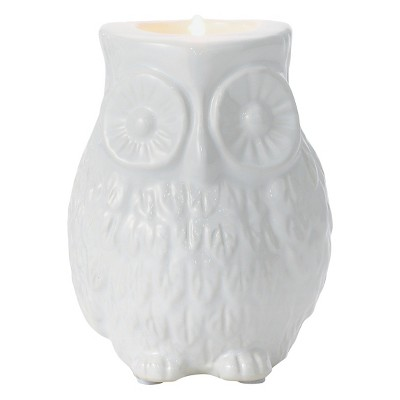 Torre & Tagus Owl Candle Holder - White