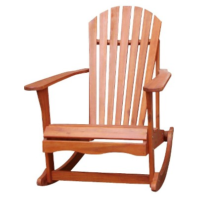 Outdoor Wood Adirondack Rocking Chair