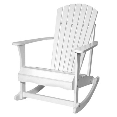 International Concepts Adirondack Rocking Chair--White
