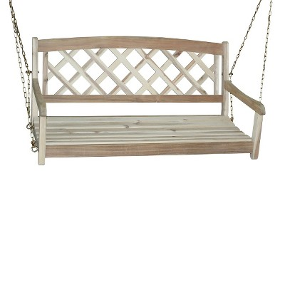 International Concepts X-Back Wood Porch Swing - Driftwood