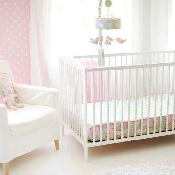 My Baby Sam Pixie Baby Bumperless Crib Sheet Pink