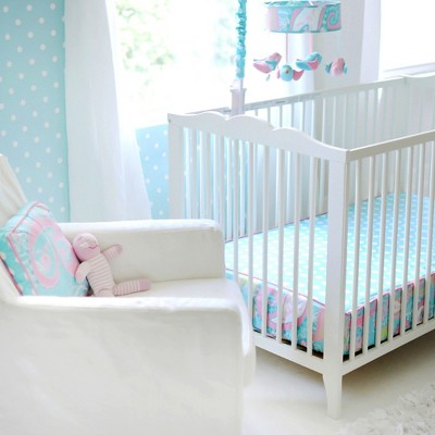 My Baby Sam Pixie Baby Bumperless Crib Sheet Aqua