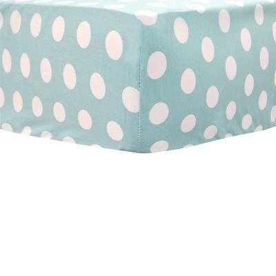My Baby Sam Pixie Baby Aqua Dot Crib Sheet
